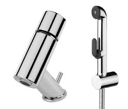 IL BAGNO ALESSI one : Washbasin tap with hand shower