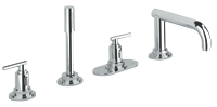 Atrio Jota : 4-hole bath combination trim set