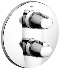 Grohtherm 3000 : Thermostatic bath/shower mixer trim