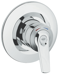 Avensys Shower : Manual shower mixer concealed 1/2""