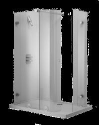 IL BAGNO ALESSI dOt : Shower cabinet, shower tray and enclosure